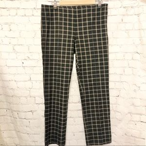 ANTHROPOLOGIE BLACK CHECKERED ANKLE PANT
